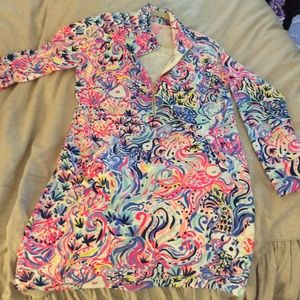 Lilly Pulitzer skipper popover dress with pockets